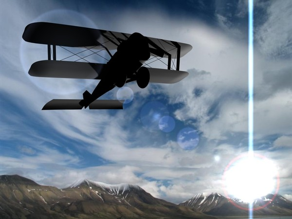 3ds max plane modelled