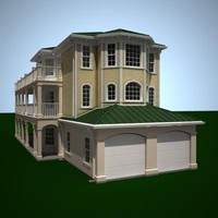 exterior residential house 3d model