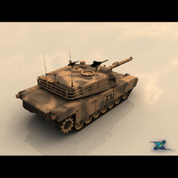 m1 abrams battle tank 3d model