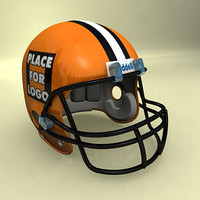 Football helmet orange (plus psd textures)