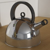 3d kettle kitchen interior model
