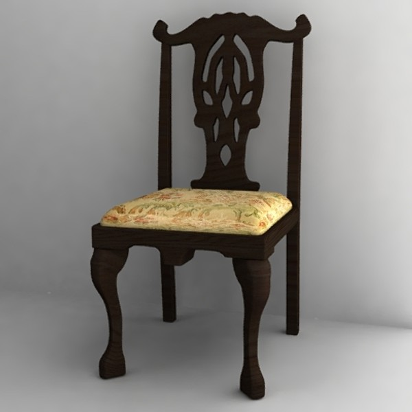 antique chair3.3ds