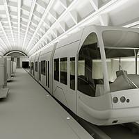 metro tram station 3d model