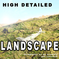 3d model landscape scene terrain ground