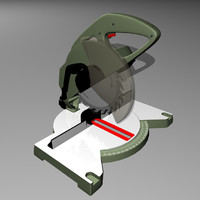 3d model chop saw