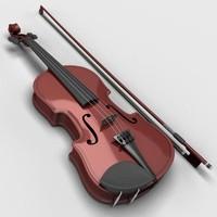 classic violin 3d max