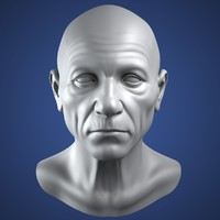 Realistic Old Man Head 3d Model