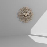 3d wall decor model