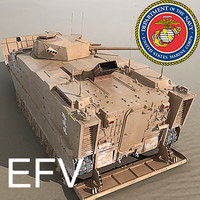 US Marine Corps Expeditionary Fighting Vehicle (EFV) Desert Scheme MAX 3DS