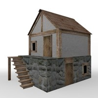 medieval house 3d 3ds