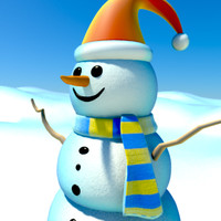 snowman cartoon character ma