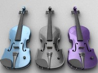 electric violin 3d x
