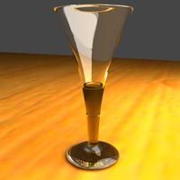 champagne flute glasses 3d model