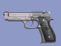 beretta 9mm gun pistol 3d max