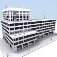 c4d building city block