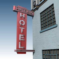 old hotel building 3d model