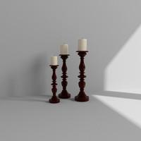 candlesticks 3d max