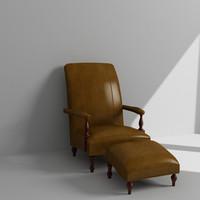 maya armchair ottoman