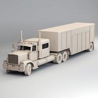 semi truck generic x