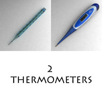 3d thermometer thermo meter