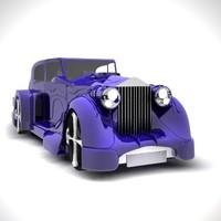 3d max rolls-royce automobile