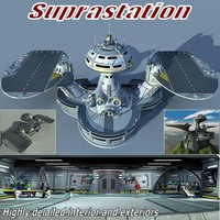 suprastation building 3d model