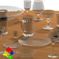 18 glass objects 3ds