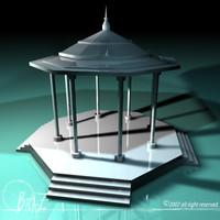 free 3ds model gazebo