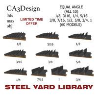 3d model equal angle