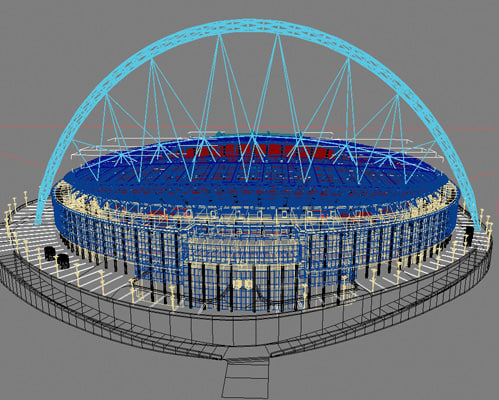 how to build a stadium model