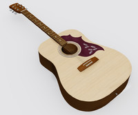 string acoustic guitar 3d model