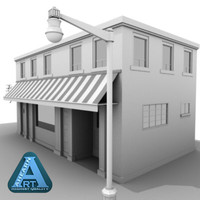 3ds max shop building