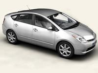 3d model toyota prius