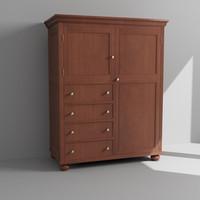3d model cabinet dresser