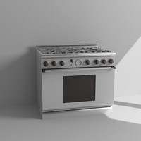 3d professional cooking range