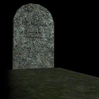 spooky grave gravestone 3d model