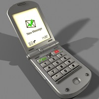 clamshell mobile phone 3d model