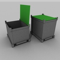 small containers 3d model