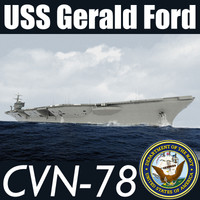 US Navy CVN-78 USS Gerald F Aircraft Carrier MAX 3DS