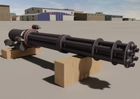 3d m134 general electric minigun model