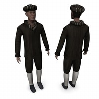 3d model medieval character human