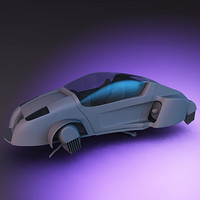 3ds flying car futuristic vehicle