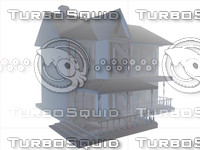 3d model wonderful haunted house