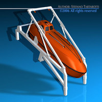 Life boat free fall ramp