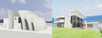 3d model beach house richard meier