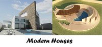 3d modern houses