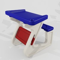 schoolbench kindergarten children 3d model
