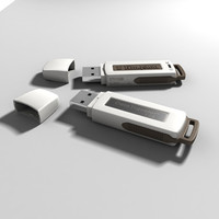 Accurate Photorealistic Kingston Pendrive