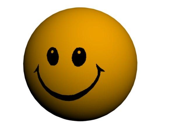 3d model smiley ball