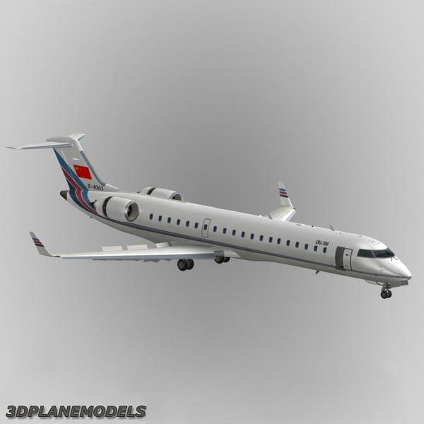 3d model bombardier crj 700 china united airlines Bombardier CRJ 700